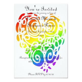 Tribal Rainbow Hearts Card