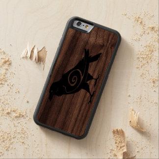 Tribal Raven Carved Walnut iPhone 6 Bumper Case