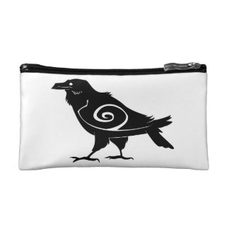 Tribal Raven Cosmetic Bag