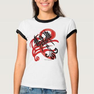 Tribal Raven Women's Ringer T-Shirt