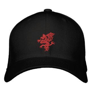 tribal red dragon cap