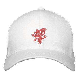 tribal red dragon embroidered baseball caps