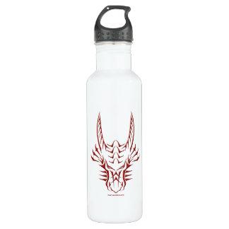 Tribal Red Dragon Head Stainless Steel Water Bottle