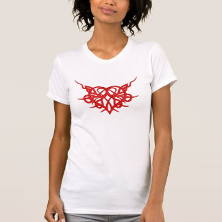 Tribal Red Heart T-Shirt