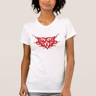 Tribal Red Heart T-Shirt