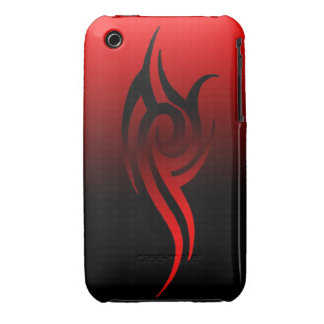 tribal red phone case Case-Mate iPhone 3 case