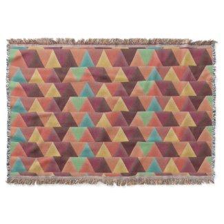 Tribal Retro Geometric Pattern Throw Blanket