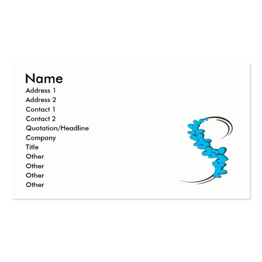 Tribal Ribbon Blue Hearts Double-Sided Standard Business Cards (Pack Of 100)