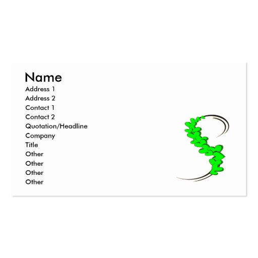Tribal Ribbon Green Hearts Double-Sided Standard Business Cards (Pack Of 100)