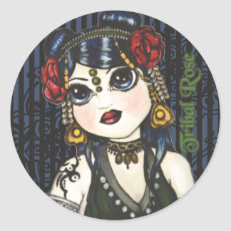 Tribal Rose Fusion Bellydance Stickers