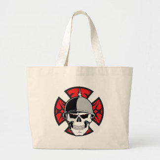 Tribal Round Cross Skull Tote Bags