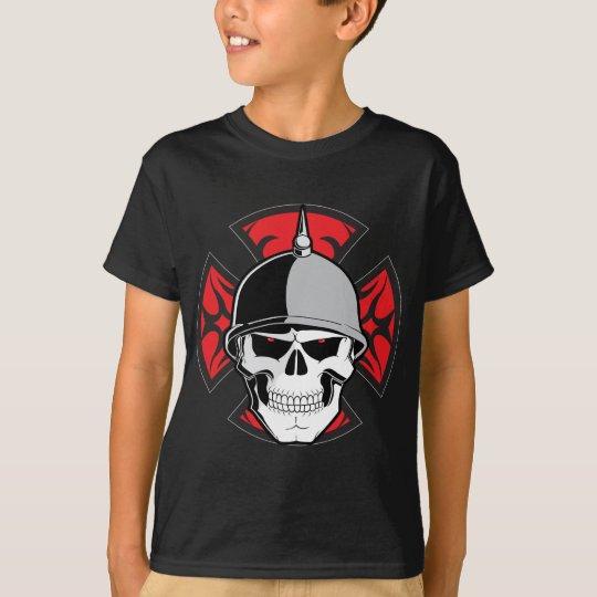 Tribal Round Cross Skull T-Shirt