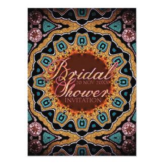 Tribal Rustic Sparkle Bridal Shower Invitations