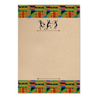 Tribal Safari Party Invite/RSVP Customizable Card