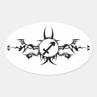 Tribal Sagittarius Stickers