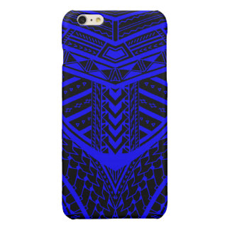 Tribal Samoan tattoo design in symmetry Glossy iPhone 6 Plus Case