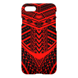 Tribal Samoan tattoo design in symmetry iPhone 8/7 Case