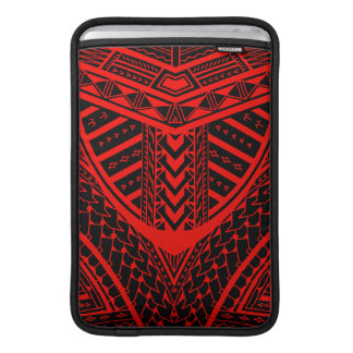 Tribal Samoan tattoo design in symmetry Sleeve For MacBook Air
