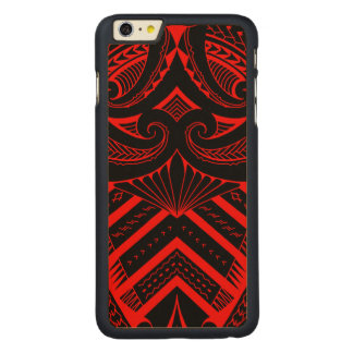 Tribal Samoan tattoo design SBW style Carved Maple iPhone 6 Plus Slim Case