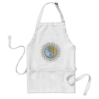 Tribal Sand and Water Yin Yang Adult Apron