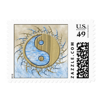 Tribal Sand & Water Yin Yang Postage