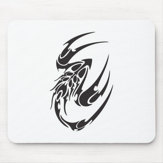 Tribal Scorpion Tattoo Design Mouse Pad