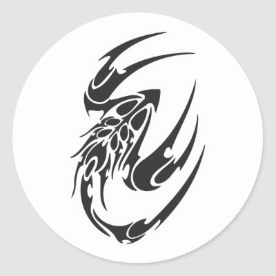 Tribal Scorpion Tattoo Design Sticker