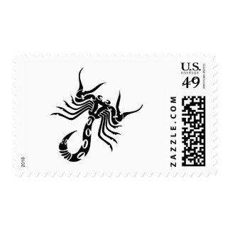 Tribal Scorpion Tattoo Postage Stamps