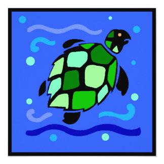 Tribal Sea Turtle Card