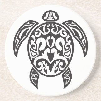 Tribal Sea Turtle Coaster