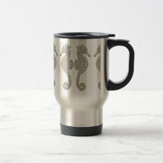 Tribal Seahorses 15 Oz Stainless Steel Travel Mug