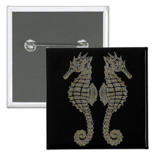 Tribal Seahorses Buttons