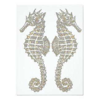 Tribal Seahorses Card