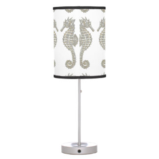 Tribal Seahorses Table Lamp