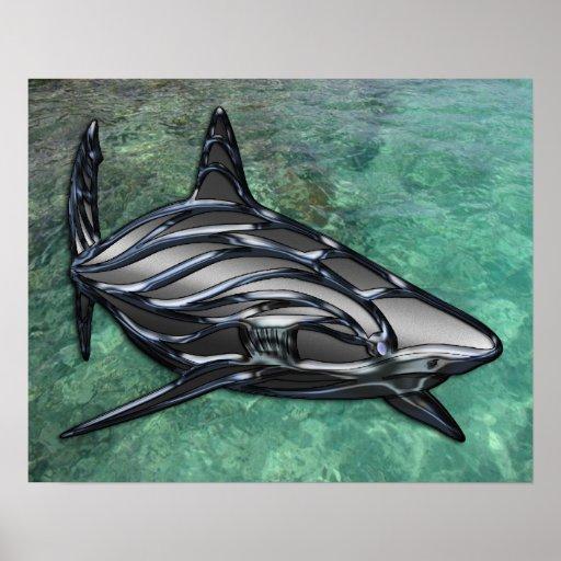 Tribal Shark Print