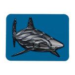 Tribal Shark Rectangular Magnet