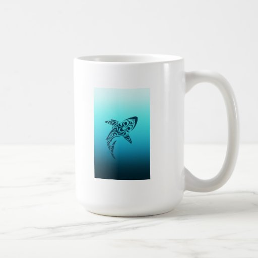 Tribal Shark Tattoo Mug