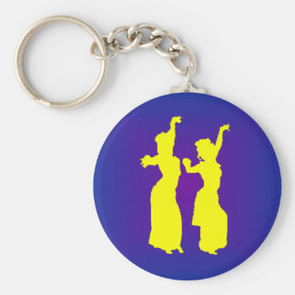 Tribal Sisters Basic Round Button Keychain