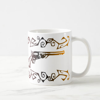 Tribal Six Shooters Coffee Mugs