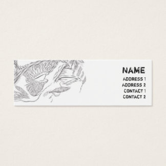 Tribal - Skinny Mini Business Card