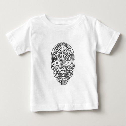 Tribal Skull Baby T_Shirt