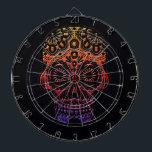 "Tribal skull dartboard design<br><div class=""desc"">A  themed dartboard for the serious player</div>"