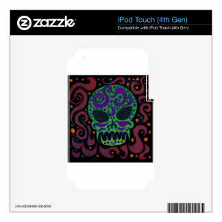 Tribal Skull Decal For iPod Touch 4G