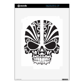 Tribal skull design decal for iPad 2