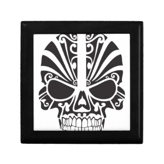 Tribal skull design jewelry box