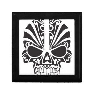 Tribal skull design jewelry box