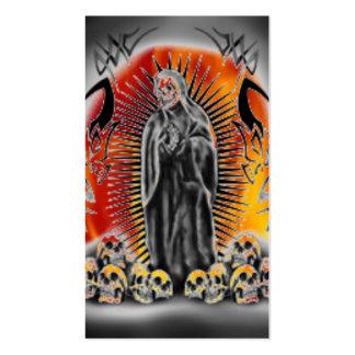 Tribal Skull Grim Reaper Scary Business Card