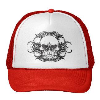 Tribal skull mesh hats