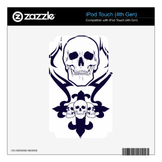 Tribal Skull iPod Touch 4G Decals