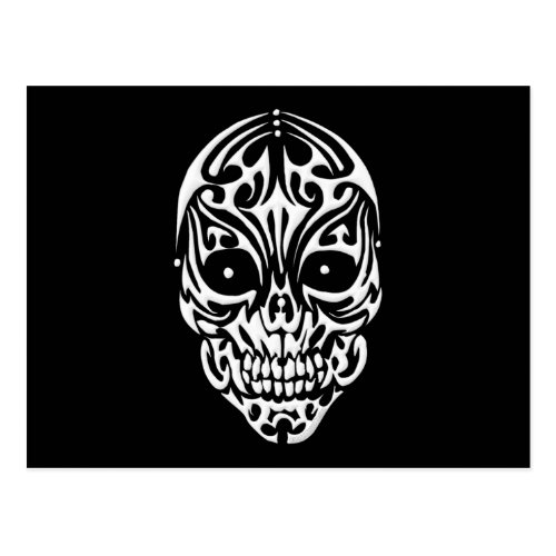 Tribal Skull Postcard